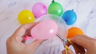 手工剪盲球,6个气球装有不同做泥材料,最后一个很少有人猜到