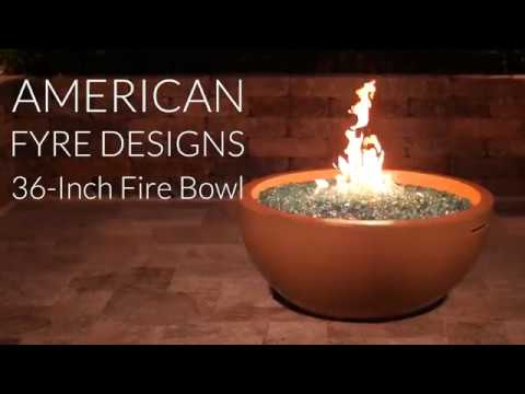 American Fyre Designs 36-Inch Fire Bowl - Cafe Blanco