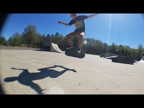 Skateboarding Lines at Colonial Heights Skatepark