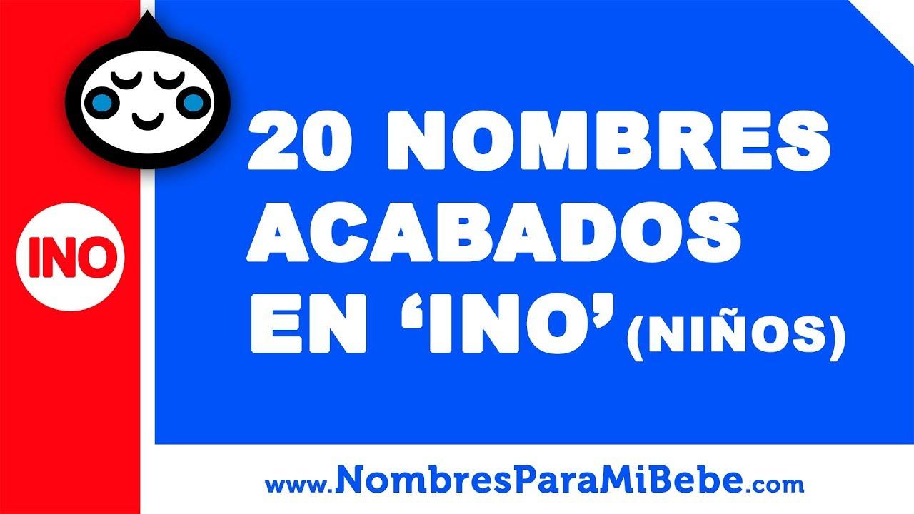 20 nombres para niños terminados en INO - los mejores nombres de bebé - www.nombresparamibebe.com