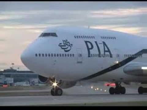 PIA Boeing 747 take off