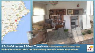 preview picture of video '3 Schlafzimmern 2 Bäder Townhouse zu verkaufen in Country House, Rafal, Alicante, Spain'