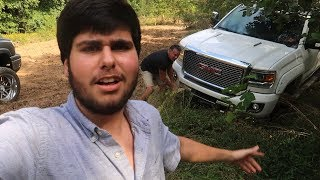 I HIT A TREE with my DADS TRUCK.