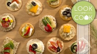 Canapés veg Recipe - Look and Cook step by step recipes | How to cook Canapés veg Recipe