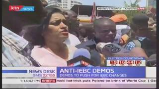 Esther Passaris leads NASA supporters as they conduct anti-IEBC demos