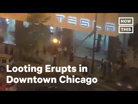 Looting Erupts in Downtown Chicago | NowThis