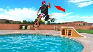 BACKYARD Fun RAMP JUMP GONE WRONG!!