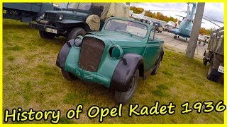 History of Opel Kadet 1936. Old German Cars from the 30s. Retro Cars of Germany