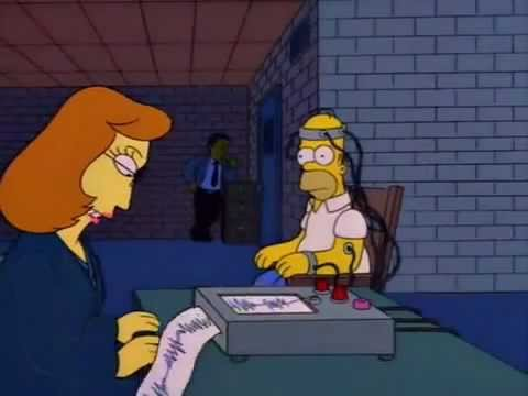 The Simpsons Homer's Lie Detector Test