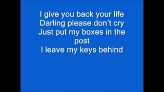 James Blunt - Kiss this love goodbye (lyrics)