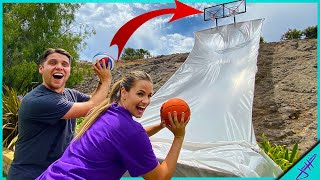 We Built A GIANT BASKETBALL ARCADE GAME In My Backyard! *Pop-A-Shot Challenge*