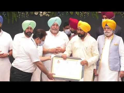 The Chief Minister honored the Deputy Commissioner for the excellent work done by Fazilka in providing employment