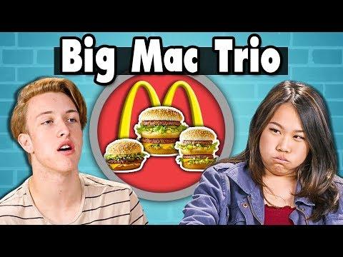 BIG MAC TRIO CHALLENGE!   Teens Vs. Food