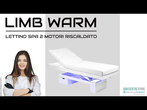 LIMB WARM Lettino Spa in legno con cassetto base illuminata<br />regolabile 2 motori termoriscaldato