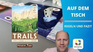 Regeln und Kurzreview - Trails Feuerland - Neuheit 2021 Familienspiel Brettspiel