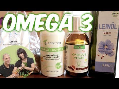 OMEGA 3 🍅 Das einzige gesunde Fett 🍅 VEGAN EPA & DHA
