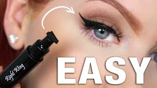 EASY Winged Eyeliner | All-in-One Stamp & Pen Review