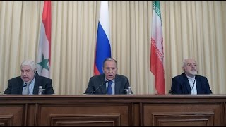 Russia, Syria & Iran demand no further US strikes on Syria – foreign ministers - Video Youtube