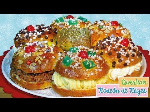 Roscón de Reyes relleno de 3 sabores, nata, trufa y crema pastelera - Hacer el Roscón de Reyes