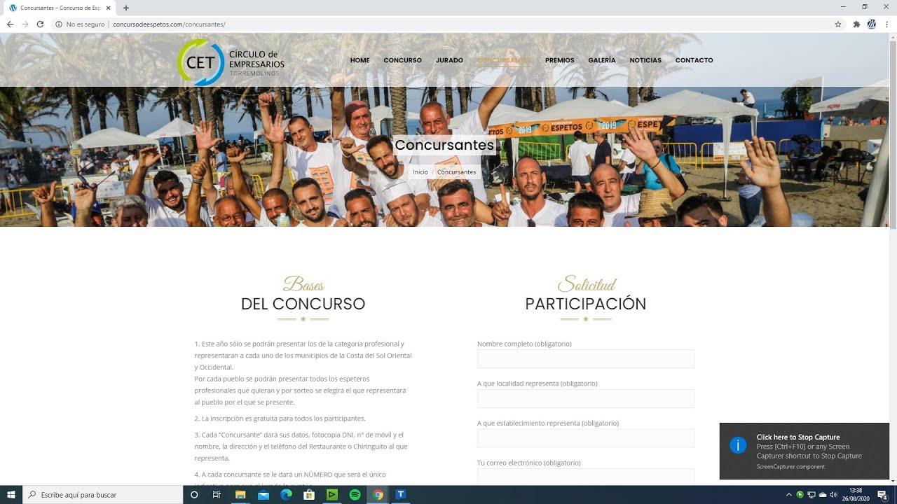 José Antonio Moreno participa en el VI Concurso de Espetos
