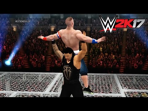 WWE 2K17 - Xbox 360 / Ps3 Gameplay Hell in a Cell Roman Reigns vs John Cena