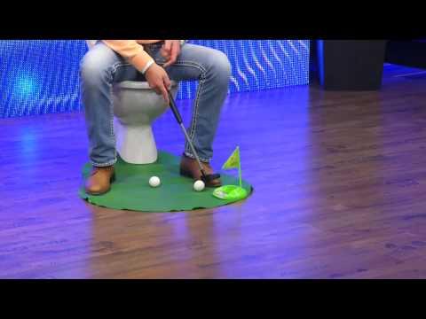 infactory Lustiges Golfspiel-Set für Bad & WC