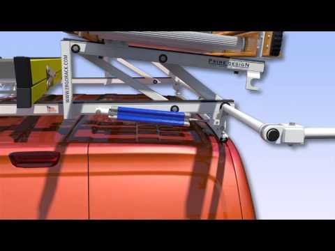 Prime Design's Ergorack- The Drop Down Ladder Rack for Nissan NV200