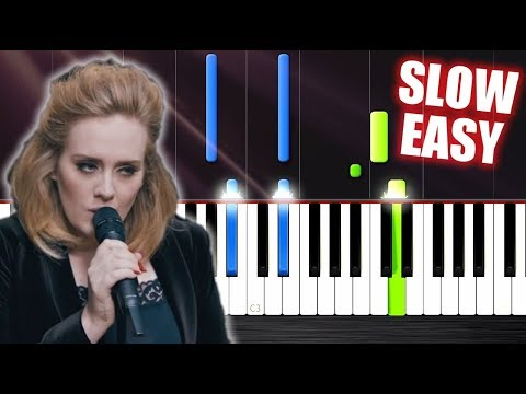 Adele - When We Were Young - SLOW EASY Piano Tutorial by PlutaX