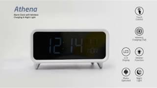 groov-e | Athena Alarm Clock with Wireless Charging & Night Light