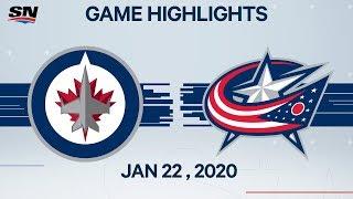 NHL Highlights | Jets vs. Blue Jackets – Jan. 22, 2020