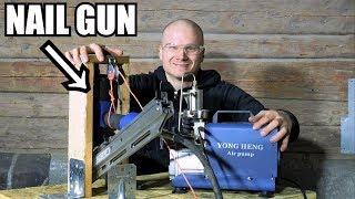 How Much Pressure You Can Use On a Nail Gun? OVERCLOCKING NAIL GUN!