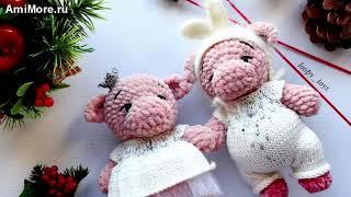Амигуруми: схема Хрюшки. Игрушки вязаные крючком - Free crochet patterns.