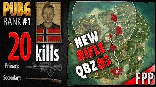QBZ 95 gameplay - Jeemzz 20 kills [EU] Solo FPP - PLAYERUNKNOWN