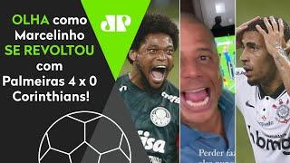'Não pode, po***!' Olha como Marcelinho Carioca se revoltou após Palmeiras 4 x 0 Corinthians