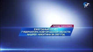 Ежегодный отчёт Губернатора о результатах деятельности Правительства Новгородской области за 2017 г.