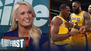Sarah Kustok on Lakers' win over Celtics, AD's future with Pelicans | NBA | FIRST THINGS FIRST