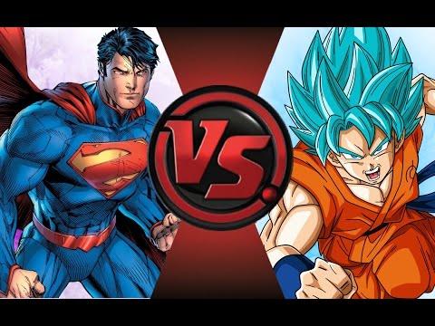 NEW 52 SUPERMAN vs GOKU! SUDDEN DEATH! Cartoon Fight Club Episode 44