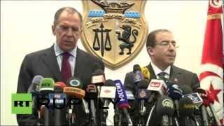 Пресс-конференция глав МИД России и Туниса