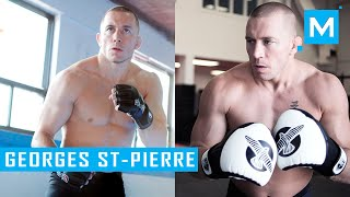 Georges St-Pierre Gym Training 2015 | Muscle Madness