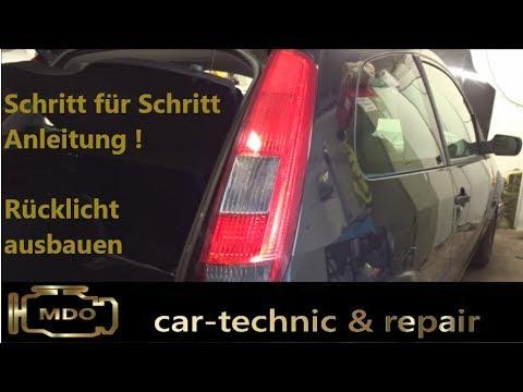 Ford Fiesta Mk5 Rücklicht ausbauen / Birne wechseln