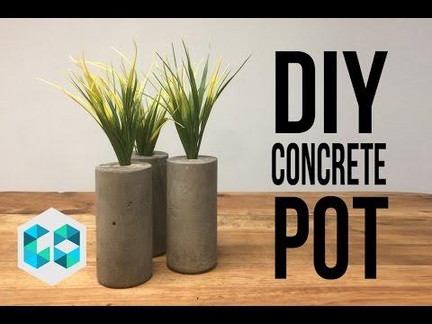 DIY CONCRETE POT/MACETEROS DE CONCRETO