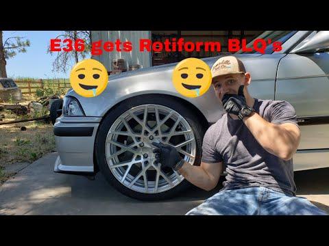 New Wheels and Tires on the E36 car show bonus.