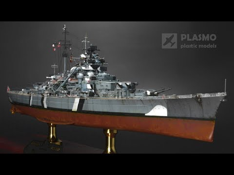 Building the 1/700 Flyhawk model of the battleship Bismark [29:38]