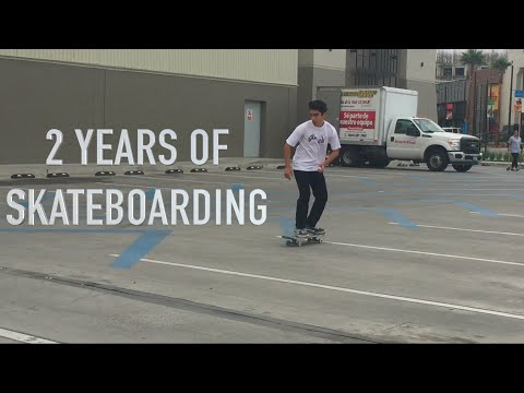 MY 2 YEARS OF SKATEBOARDING PROGRESSION