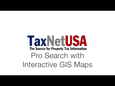 TaxNetUSA Intro to GIS Maps: and Pro Search
