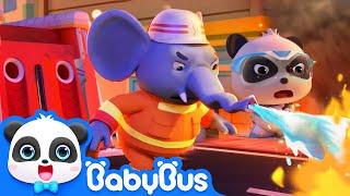 Super Panda Guardians | Rescue Elephant's Nose |  Super Panda Rescue Team 1 | BabyBus