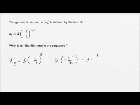 Using explicit formulas of geometric sequences (video