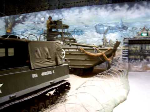 Oorlogsmuseum Overloon. D-Day landing at Normandy beach. Operation Overlord.