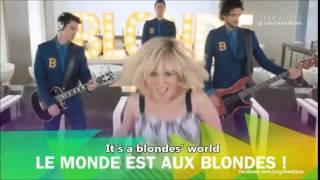 Alizée Blonde - Dual English French Lyrics HD Subs Paroles Lyrics