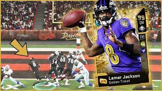 Golden Ticket Lamar Jackson SHOWING OFF On The Defense! (Madden 20)